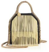 Stella McCartney Falabella Tiny Baby Bella Chain-Fringed Faux Leather Tote