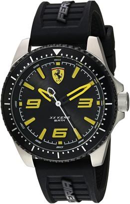 Ferrari Men's XX KERS Stainless Steel Quartz Watch with Silicone Strap Black 21 (Model: 0830487)
