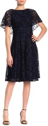 Gabby Skye Lace Overlay Dress