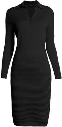 Rumour London Olivia Black Soft Merino Wool-Blend Knitted Dress