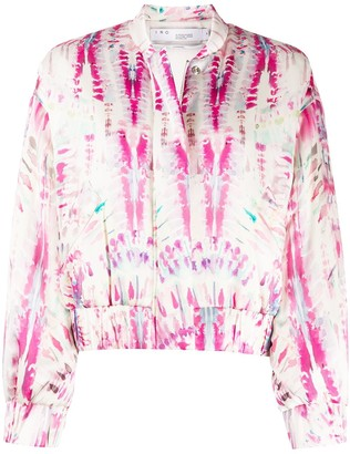 IRO Abstract-Print Cropped Jacket