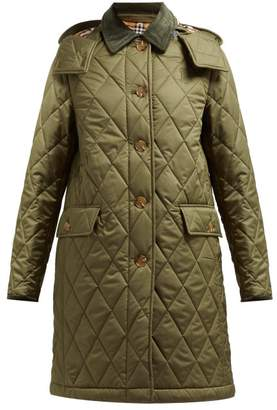 Burberry Dareham Diamond Quilted Jacket - Womens - Green