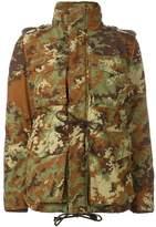DSQUARED2 camouflage padded military jacket