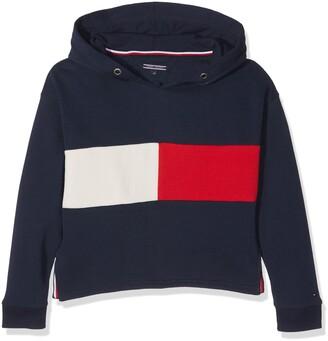 Tommy Hilfiger Girl's Flag Block HD HWK L/S T-Shirt