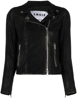 S.W.O.R.D 6.6.44 Slim-Cut Biker Jacket