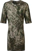 11 By Boris Bidjan Saberi camouflage long fit T-shirt
