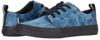 Toms Kids Carlito (Little Kid/Big Kid) (Majolica Blue Tie-Dye Ripstop) Kid's Shoes