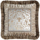 """Dian Austin Couture Home Gretta Pillow with Scroll Center, 18""""Sq."""