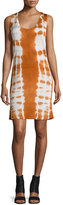 Maison Margiela Sleeveless Batik Shift Dress, Off White/Sunset