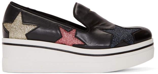 Stella McCartney Black Binx Stars Slip-On Sneakers