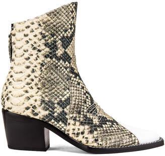 Alyx Tex Boot in Black & Cream | FWRD
