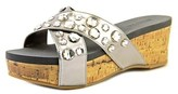 Kenneth Cole Reaction Step Inside 2 Women Open Toe Synthetic Silver Wedge Sandal.