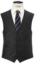 John Lewis Regular Fit Sharkskin Waistcoat, Charcoal