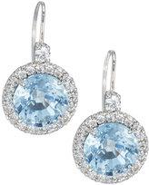 FANTASIA CZ Drop Earrings, Aqua
