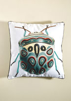 Karma Living Beetle 'Round the Bush Pillow in Teal
