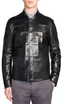 Fendi Tonal Patchwork Leather Jacket
