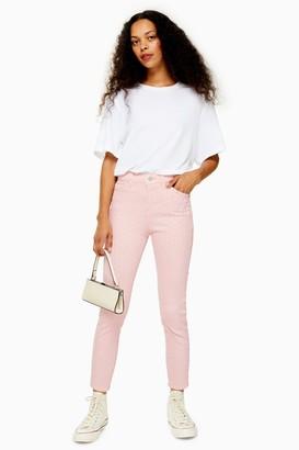 Topshop PETITE Pink Diamante Jamie Jeans