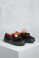 Forever 21 FOREVER 21+ Shoe Republic Pom Pom Sneakers