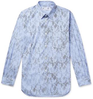Comme des Garcons Printed Striped Cotton-Poplin Shirt