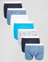 Asos Trunks 7 Pack With Ditsy Floral Print