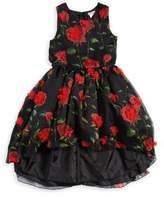 Nanette Lepore Girl's Floral Hi-Lo Dress