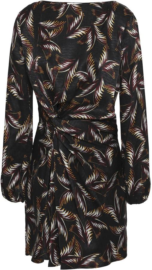 A.L.C. Twisted Silk-jacquard Mini Dress