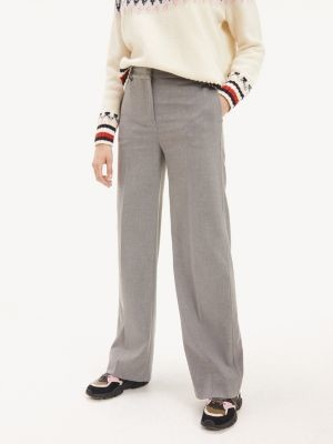 Tommy Hilfiger Stretch Flannel Wide Leg Trousers