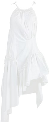 Marques Almeida White Gathered Asymmetric Dress