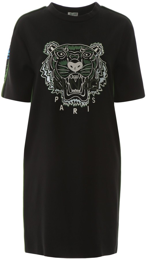 Kenzo Embroidered Tiger T-Shirt Dress