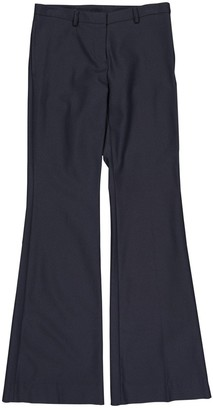 Burberry Navy Wool Trousers