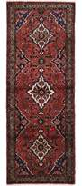 "Ecarpetgallery One-of-a-Kind Hamadan Hand-Knotted Runner 3'3"" x 9'2"" Wool Dark Copper/Beige Area Rug"