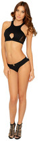Del Mar Swimwear - Anika Sport Bikini Bottom in Black