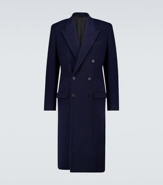 Balenciaga Double-breasted wool-blend coat
