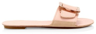 Definery Loop Leather Flat Sandals