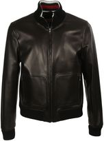 Gucci Classic Leather Bomber Jacket