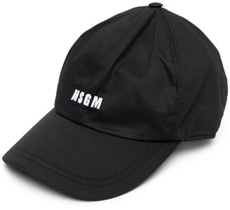 MSGM Logo-Embroidered Baseball Cap