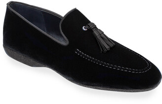 Paul Stuart Men's Hope Velvet Tassel Loafers