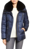 Andrew Marc 'Chloe' Down Coat with Genuine Fox Fur Trim