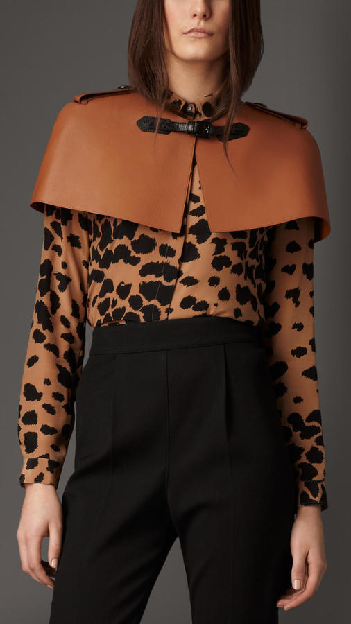 Burberry Bonded Leather Capelet