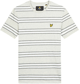 Lyle & Scott Double Stripe T-shirt, Light Grey Marl