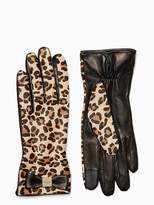 Kate Spade Cheetah leather gloves