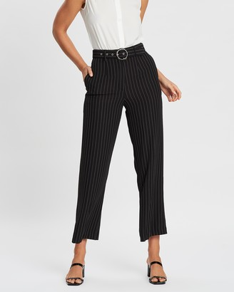 Forcast Oakley Striped Wide Leg Pants