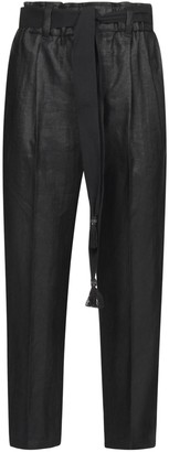 Brunello Cucinelli Belted Cropped Pants