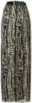 Alberta Ferretti floral pleated maxi skirt