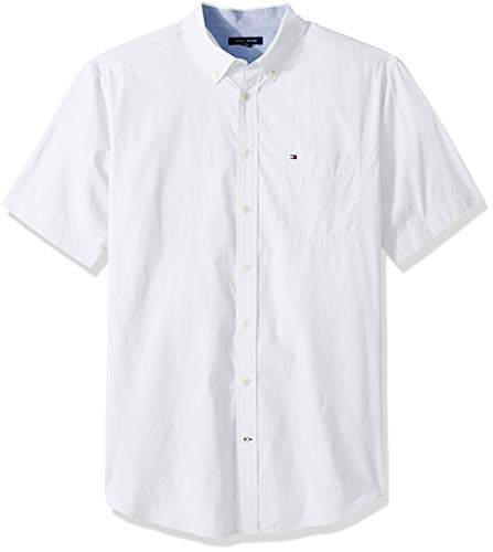 389e77732 Tommy Hilfiger White Men's Big And Tall Shirts - ShopStyle