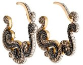 Amrapali 18K Diamond Scroll Hoop Earrings