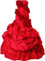 Rubin Singer rose applique gown