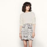 Maje Short bonded guipure skirt