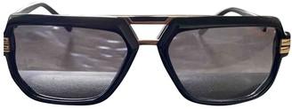 Cazal Black Metal Sunglasses