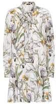 Alexander McQueen Floral-printed silk dress